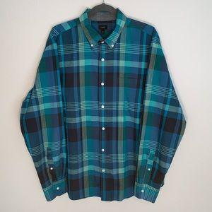 J. Crew Indian cotton plaid button down shirt